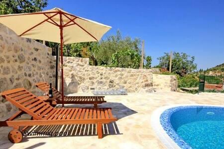 Dalmatian stone villa with pool, Os - Ošlje