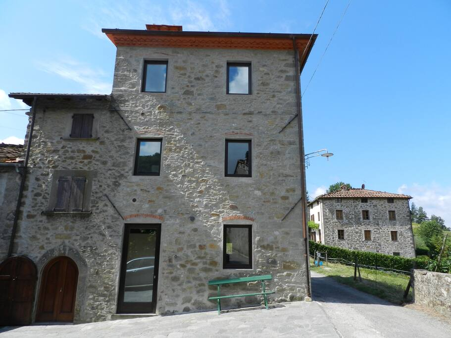 front view of our properties: Il Castello is the one on the left