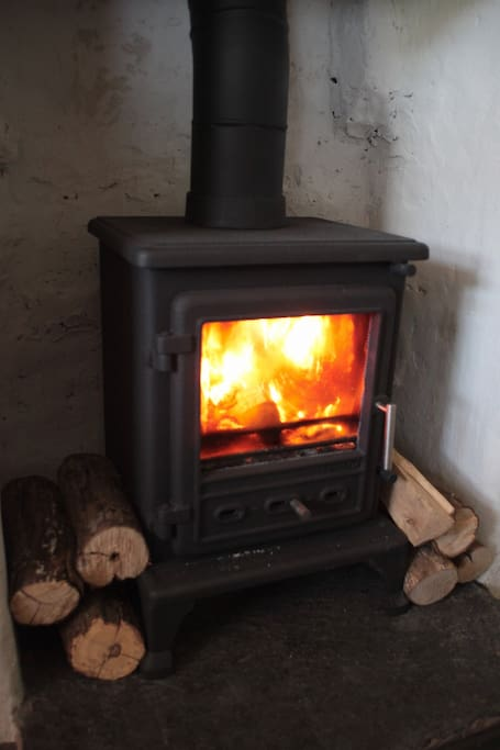 Cosy real fire for the winter months.