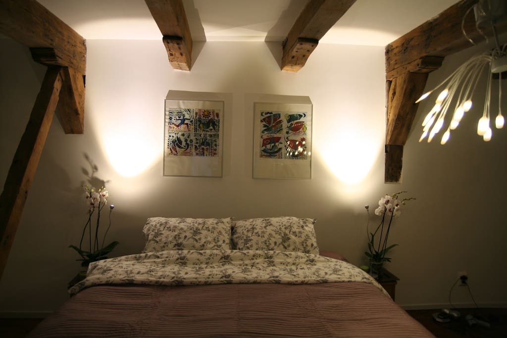 Old 16th century beams are lovely features to this tranquil space.