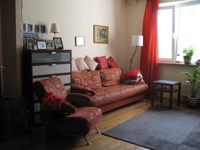 Sofa in separate room for 2 persons with TV/диван для 2 персон с ТВ