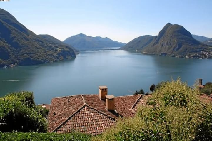 Studio with view-Monte Bré (Lugano) - Ruvigliana - Apartmen