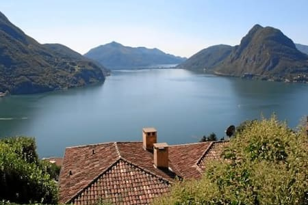 Studio with view-Monte Bré (Lugano) - Ruvigliana