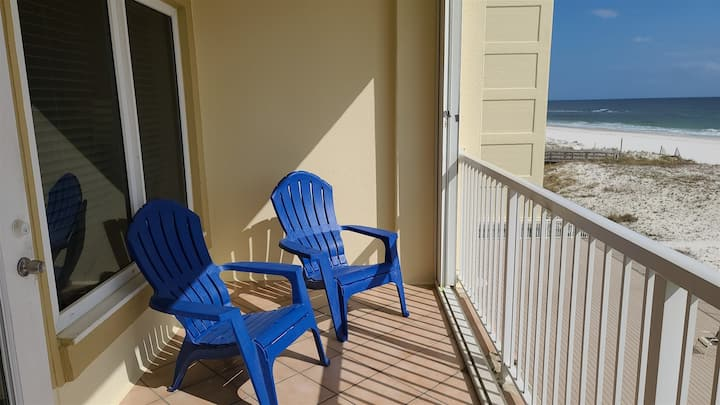 Boardwalk 1 bedroom sits directly on the beach in the heart of Gulf Shores!