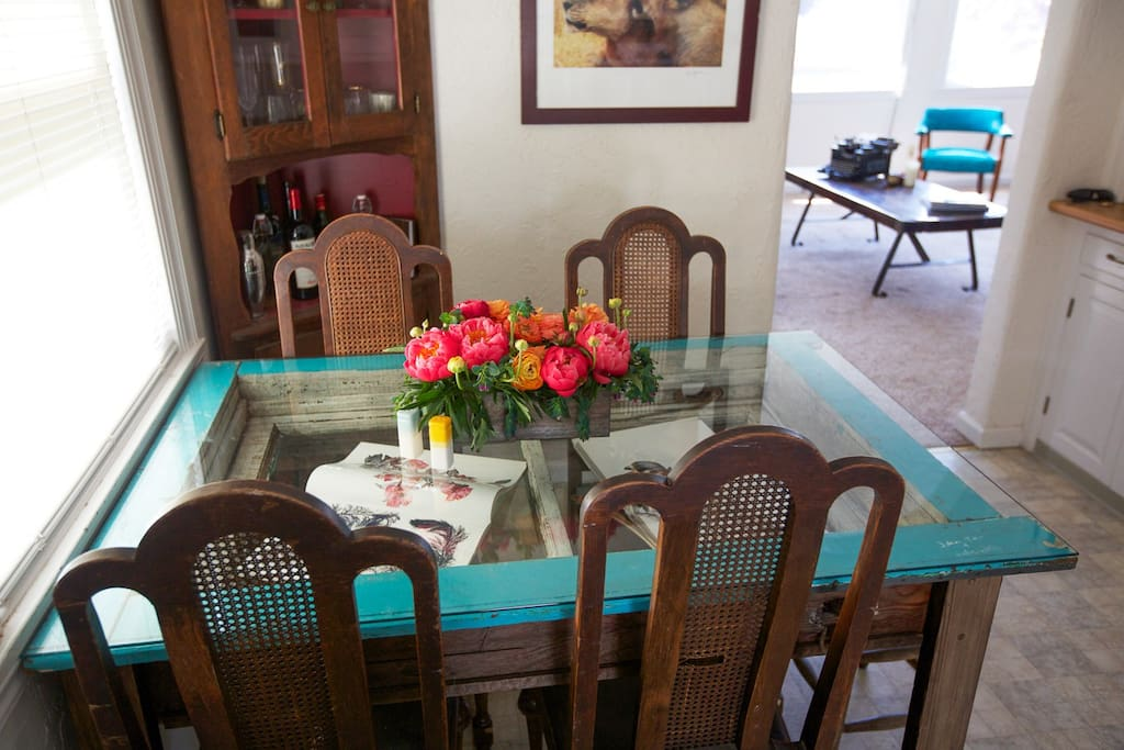 Our handmade dining table!