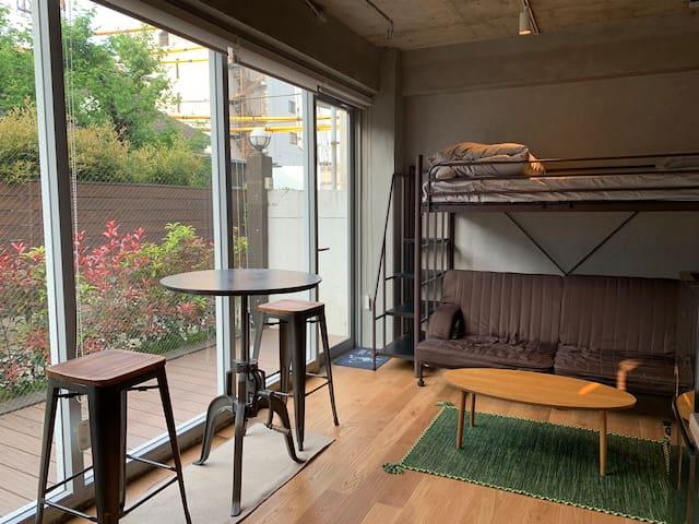 1 BR Modern Apartment, 2min from Harajuku Station