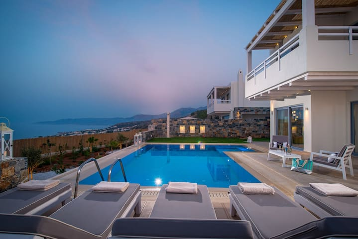Villa Greece with full seaview from the pool area