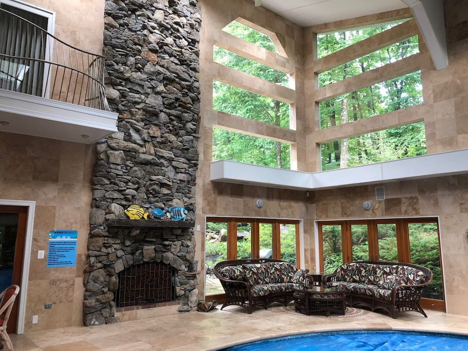Soaring Stone Fire Place