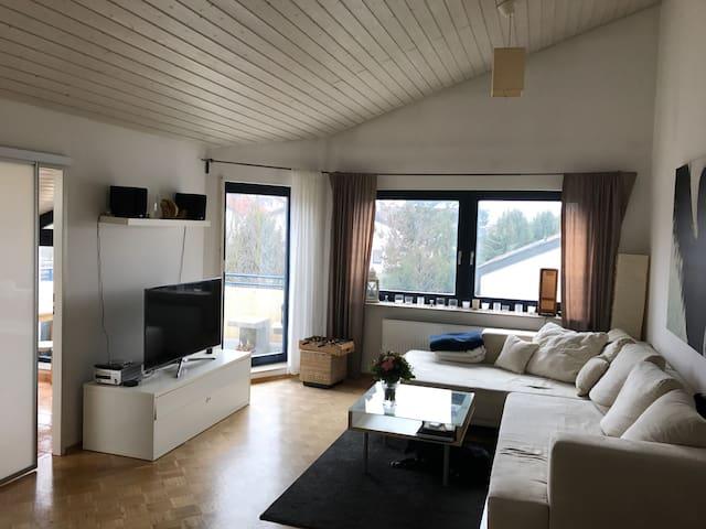 Helle Dachgeschosswhg. mit Balkon - Leonberg - Leilighet
