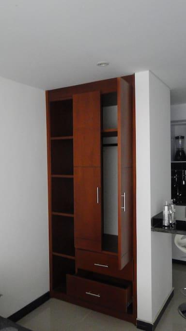 Cada apartamento cuenta con closet