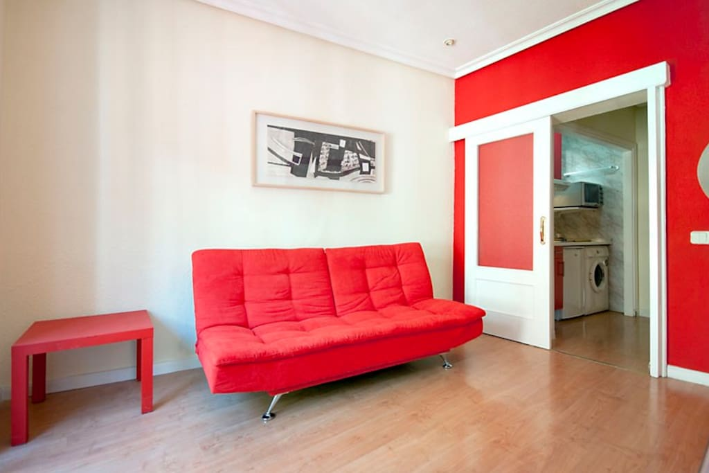SALON WITH DOUBLE SOFA-BED ,TV32', HOME CINEMA, AND INTERNET WI-FI