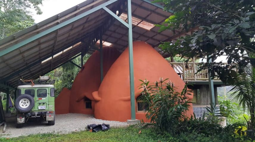 King Bedroom in Eco Domes on Sustainable Farm
