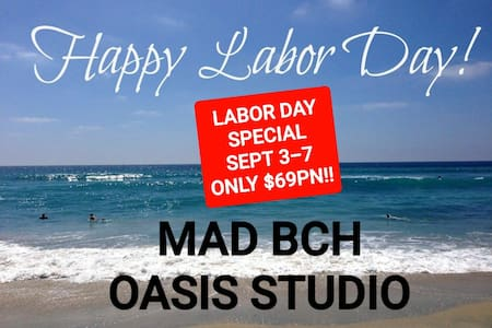 Mad Bch Oasis Studio*LABOR DAY SPCL 9/3-9/7 $69 PN