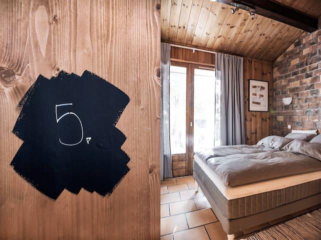 Double Room 5 (Bed 140 x 200) & breakfast - Séez - Bed & Breakfast