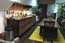 My kitchen and dining room.