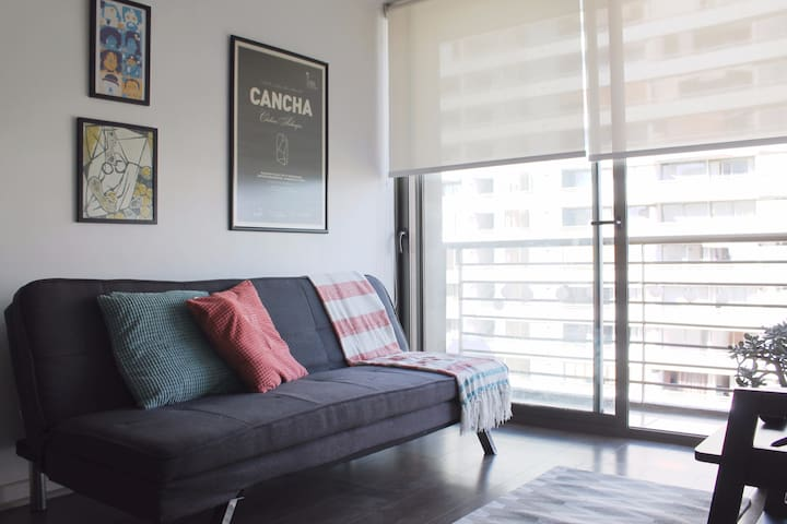 Beautiful and cozy Apt in Barrio Italia near metro - Ñuñoa - Wohnung