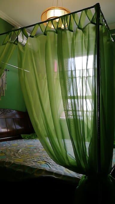 大床房间,东南亚风格