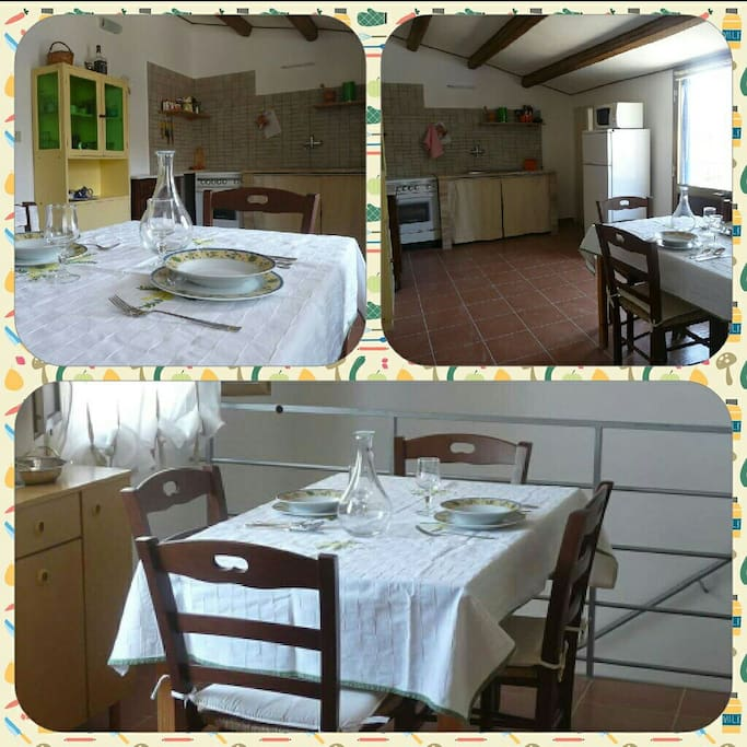The kitchen and dining