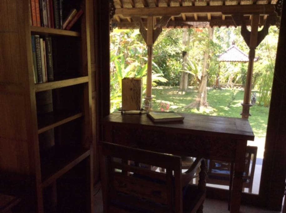 working space can be inside or on veranda