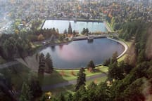 Mt Tabor Park: two of our historic reservours