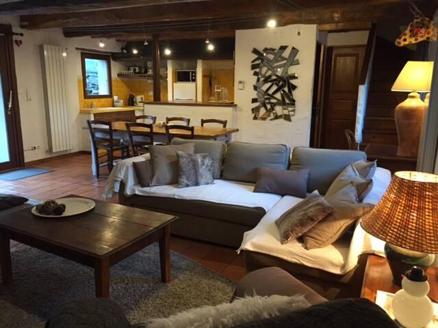 Maison de village dans le centre de St Lary Soulan - Saint-Lary-Soulan - Huis
