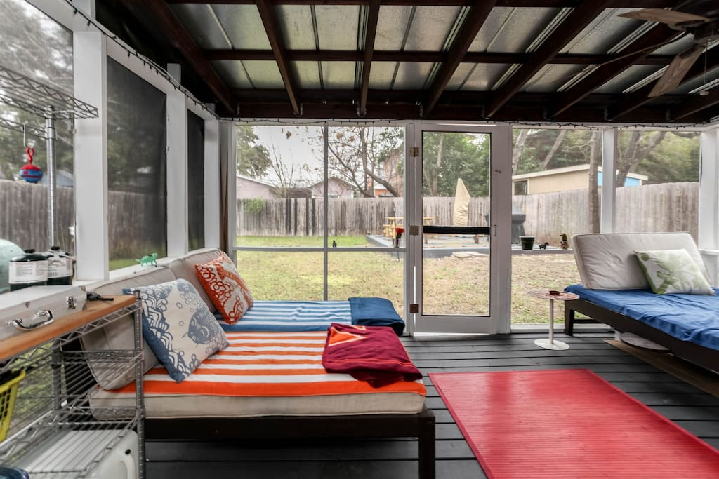 Screened-In Patio and comfy lounge chairs