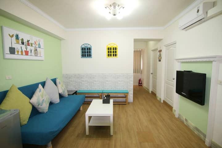 阿帕特-高雄西子灣四房月租小公寓 適合家庭朋友學生