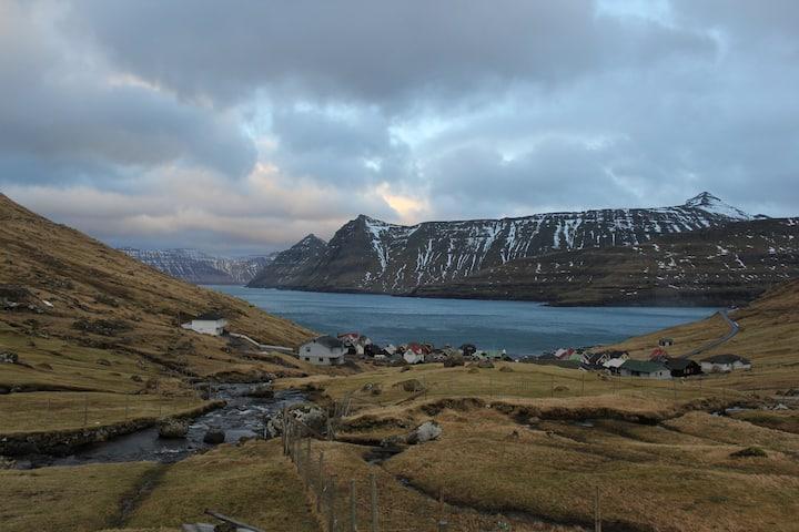 Faroe Islands Cottage by the Ocean