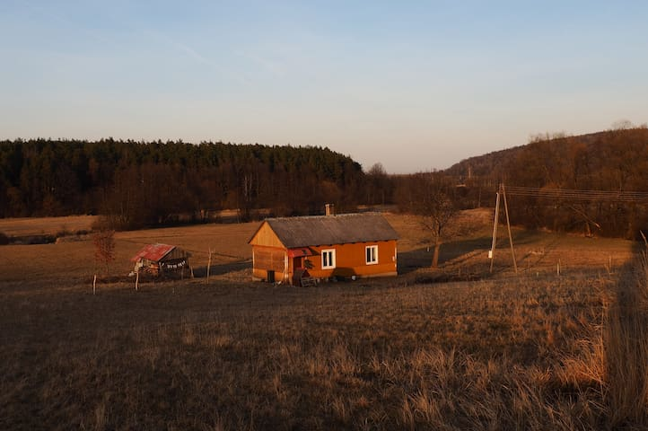 Lovely small wooden house surrounded by nature - Baszowice - Hütte