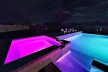 Soak in the hot tub beneath the starlit desert skies