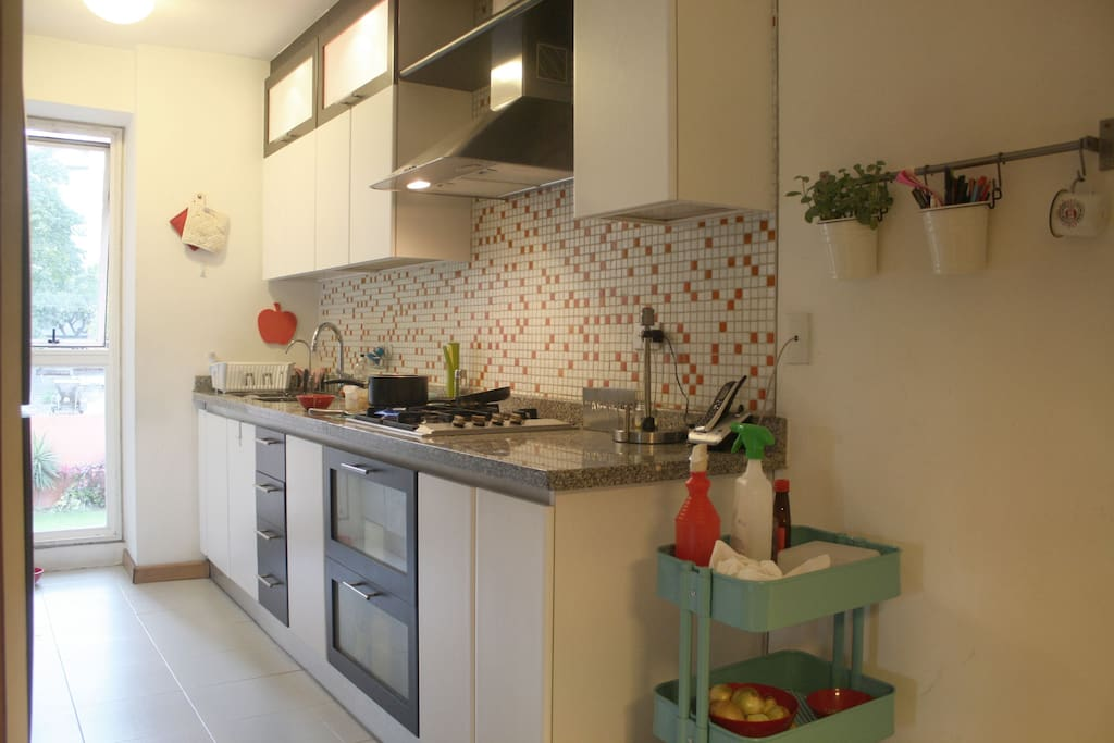 totally equipped kitchen