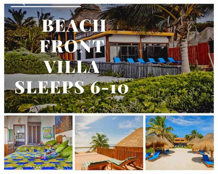 Beach  Front Villa☀Sleeps 6-10☀Best Tulum Beach