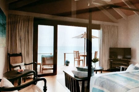 Beach villa in beautiful maldives