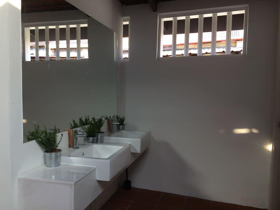 sink in shared bathroom