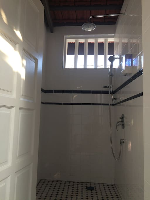 shower in shared bathroom