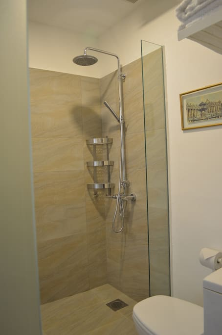Ensuite with rain shower.