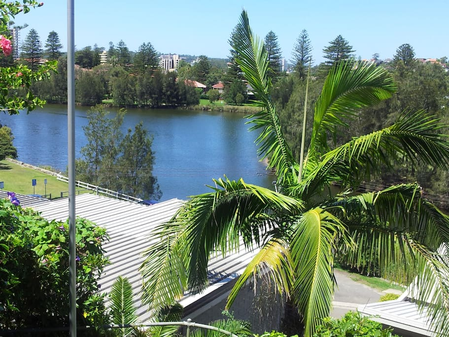 Outlook to lagoon and Manly from living area