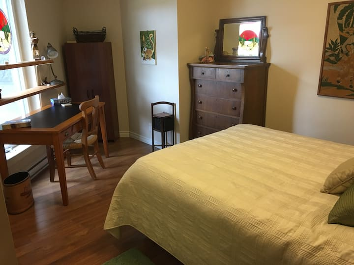Quiet Ensuite bedroom and bath Downtown