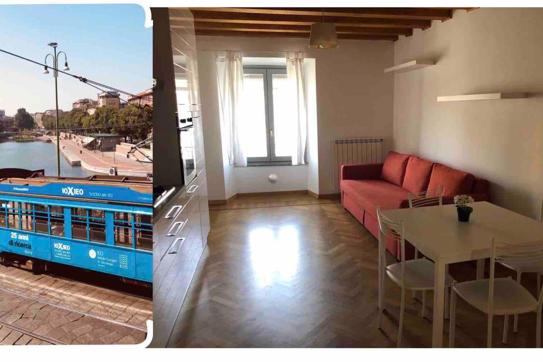 Vista/View +   Soggiorno/Cucina  Living Room/Kitchen