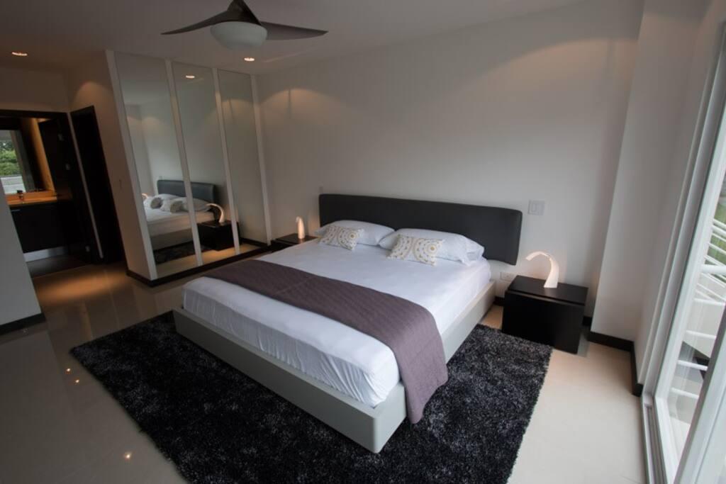 Amplia y acogedora habitación principal, con su Walking Closet y baño privado.