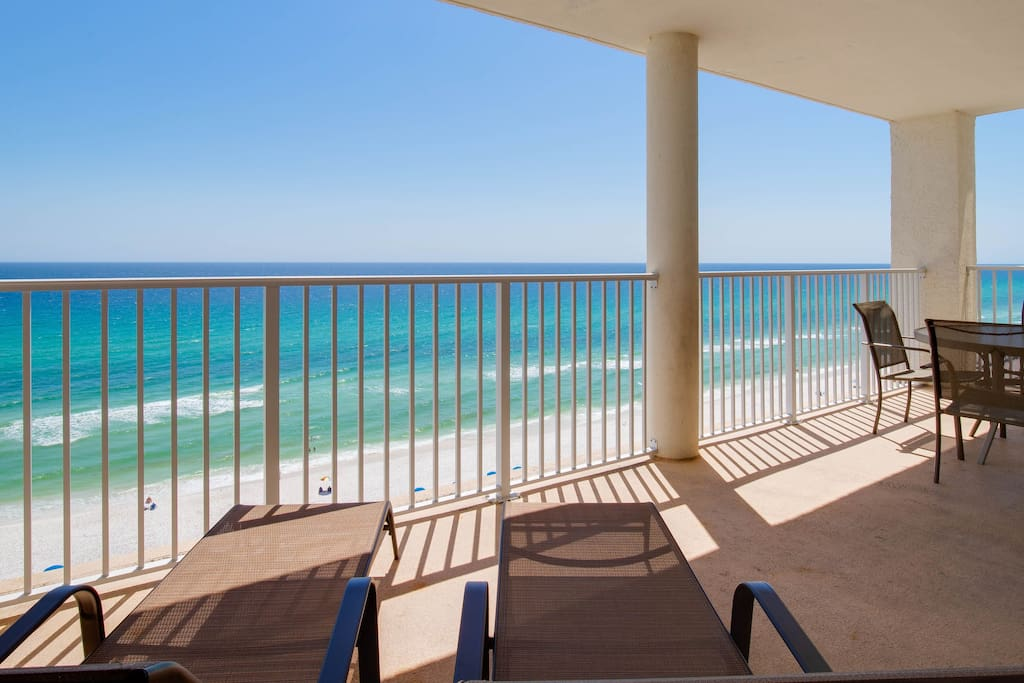 The large private balcony is breathtaking