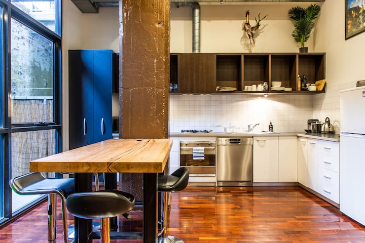Stylish and Spacious Fitzroy Warehouse Apartment