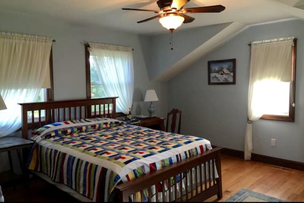 Newley added bedroom with great light and adjacent bathroom