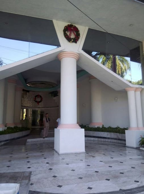 Main entrance to the building