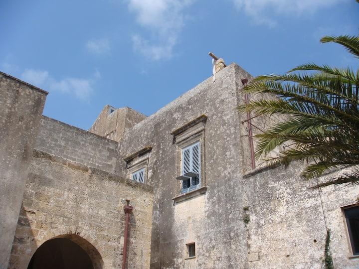 château XVI dans un village sur mer
