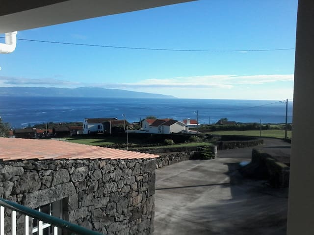 Seaview from upper apartment.