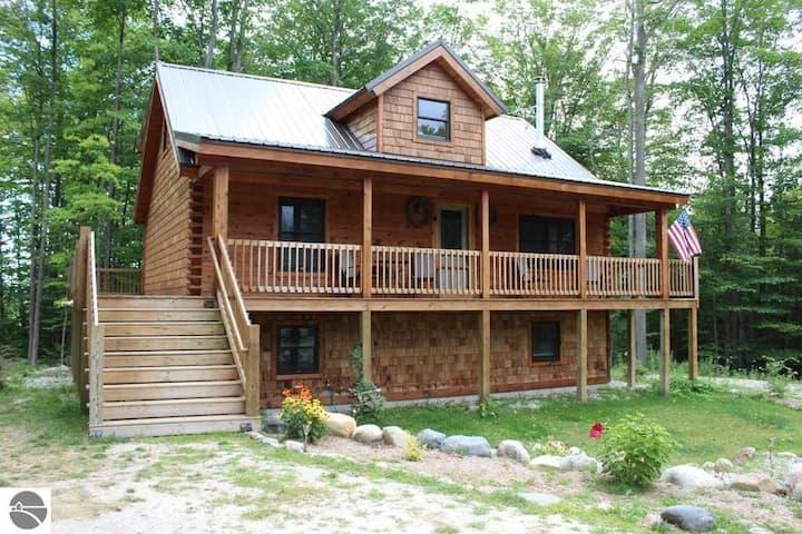 Torch Lake Log Home