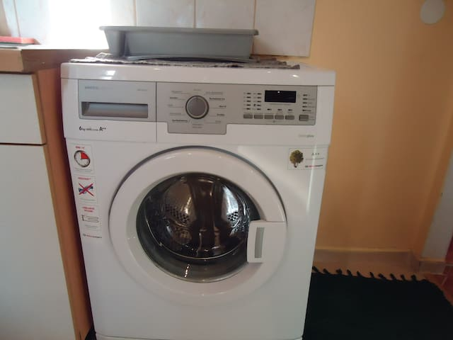 Washing machine + separate dryer to get  you clean, refreshed and ready to GO!