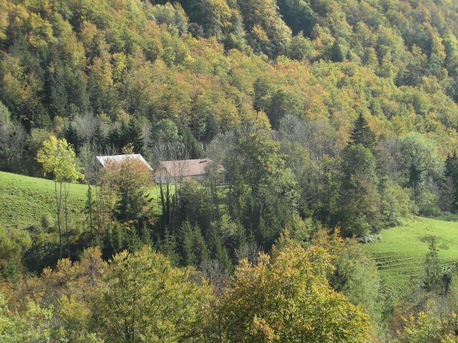 de ligging van het huis