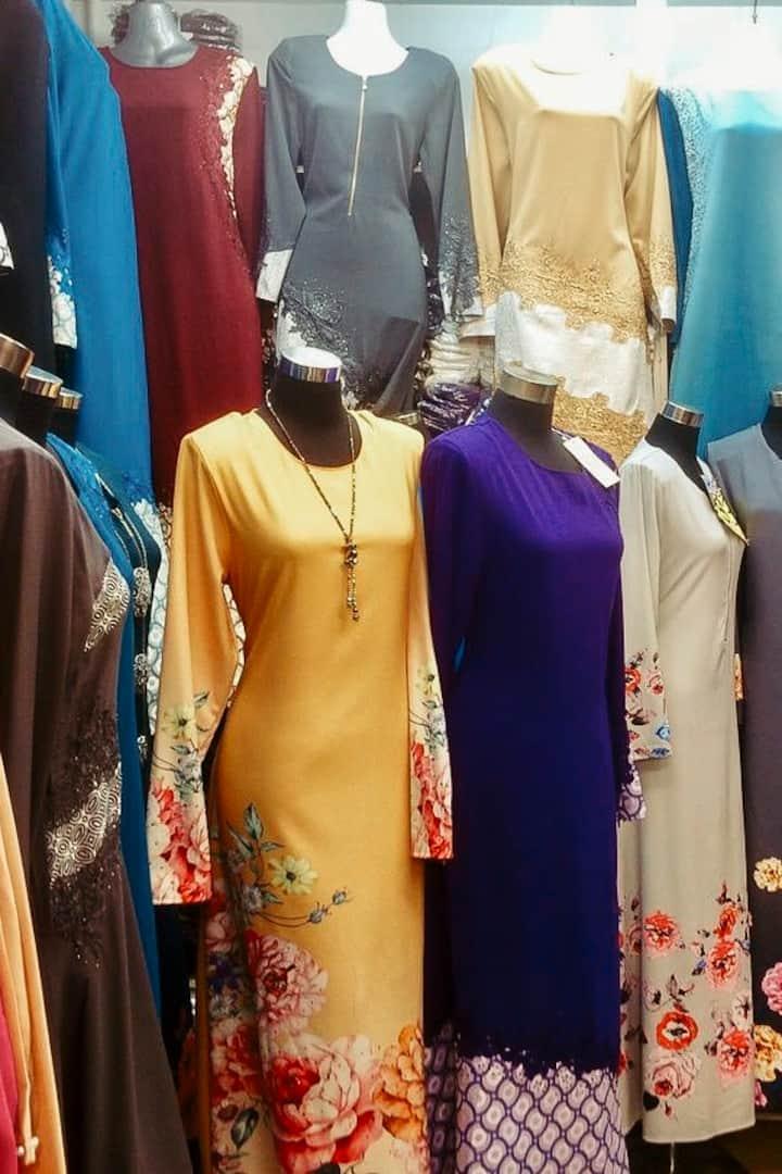 Colourful baju kurung